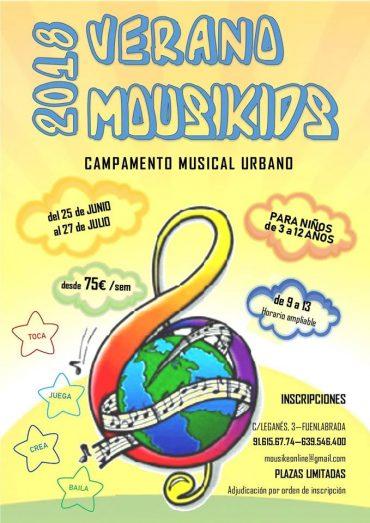 Campamento Musical Urbano Fuenlabrada Mouskids