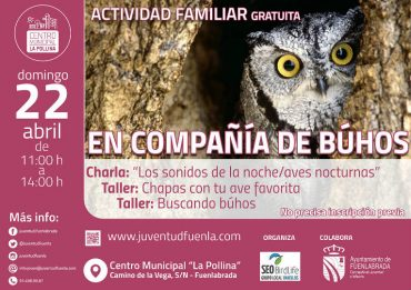 """Actividad familiar en Fuenlabrada """"En compañía de búhos"""""""