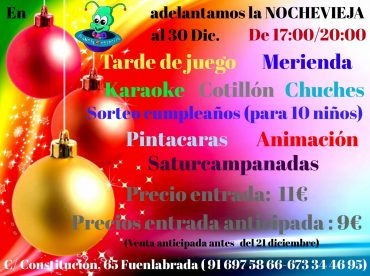 Fiesta de Nochevieja para niños en Fuenlabrada
