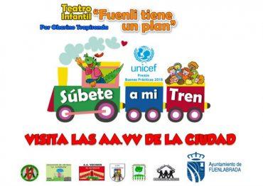 """Teatro de títeres para niños en Fuenlabrada """"Súbete a mi tren"""""""